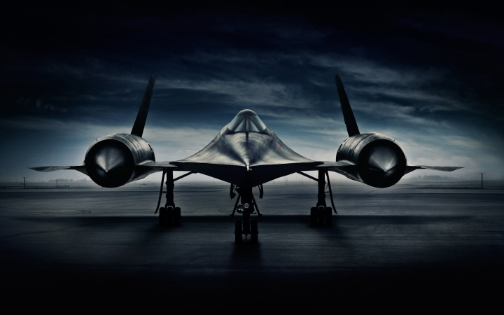 SR71 Blackbird photographed by advertising photographer Blair Bunting